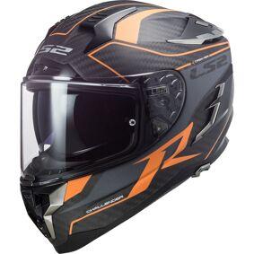 LS2 FF327 Challenger Grid Carbon Hjelm 2XS Oransje