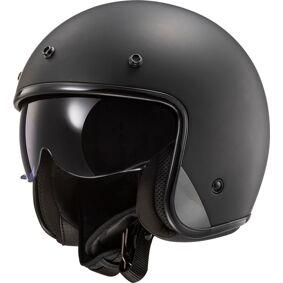 LS2 OF601 Bob Solid Jet hjelm M Svart