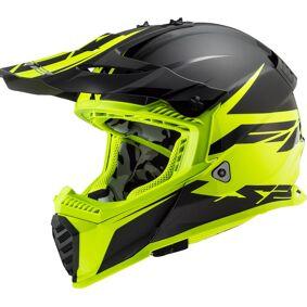 LS2 MX437 Fast Evo Roar Motocross hjelm XS Svart Gul
