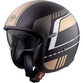 Premier Vintage BL 19 BM Jet Helmet Jet Hjelm L Svart Gull
