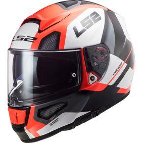LS2 FF397 Vector Evo Automat Hjelm 2XL Hvit Oransje
