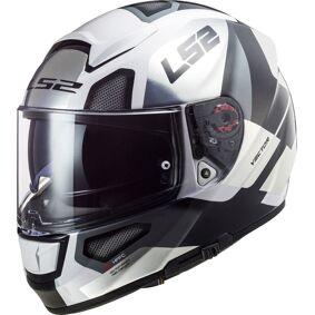 LS2 FF397 Vector Evo Automat Hjelm 2XL Hvit Sølv