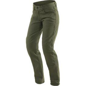Dainese Casual Slim Ladies Motorsykkel tekstil bukser 24 Grønn
