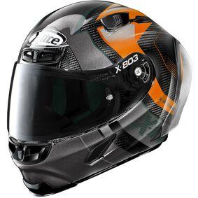 X-Lite X-803 RS Ultra Carbon Tatanka Hjelm M Svart Oransje