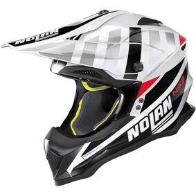Nolan N53 Cliffjumper Motocross Hjelm 2XL Svart Hvit Rød