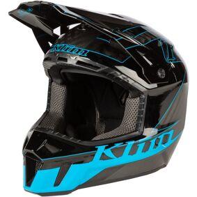 Klim F3 Draft Carbon Motocross Hjelm M Grå Blå