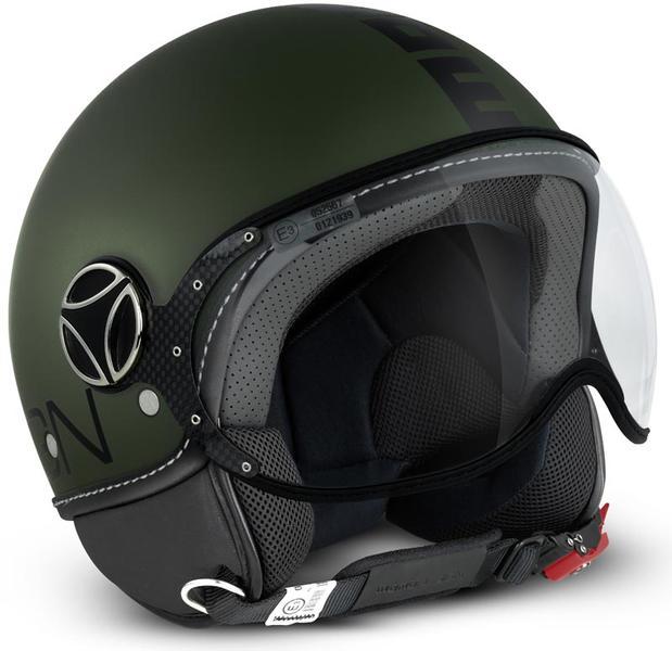 MOMO FGTR Classic Jet hjelm militære grønt Matt / svart Svart Grønn 2XS