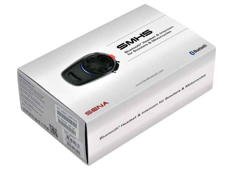 Sena SMH5 Bluetooth kommunikasjon systemet enkelt Pack Svart en størrelse