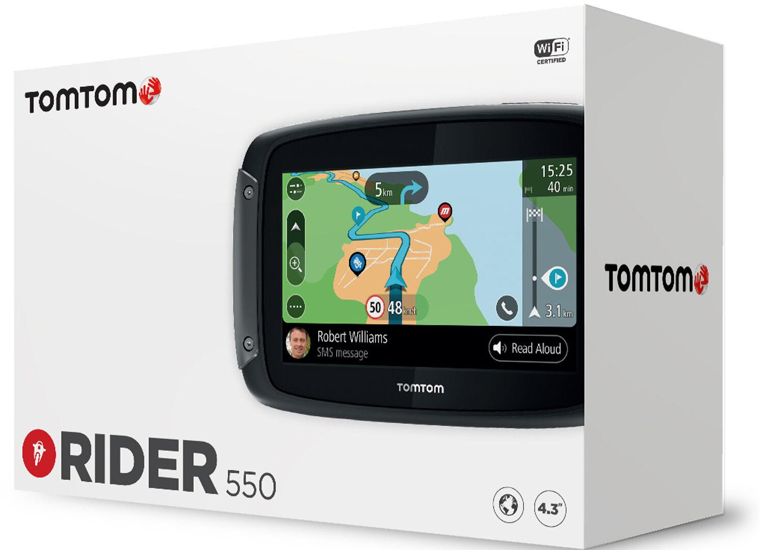 TomTom Rider 550 World Ruten veiledning System en størrelse Svart