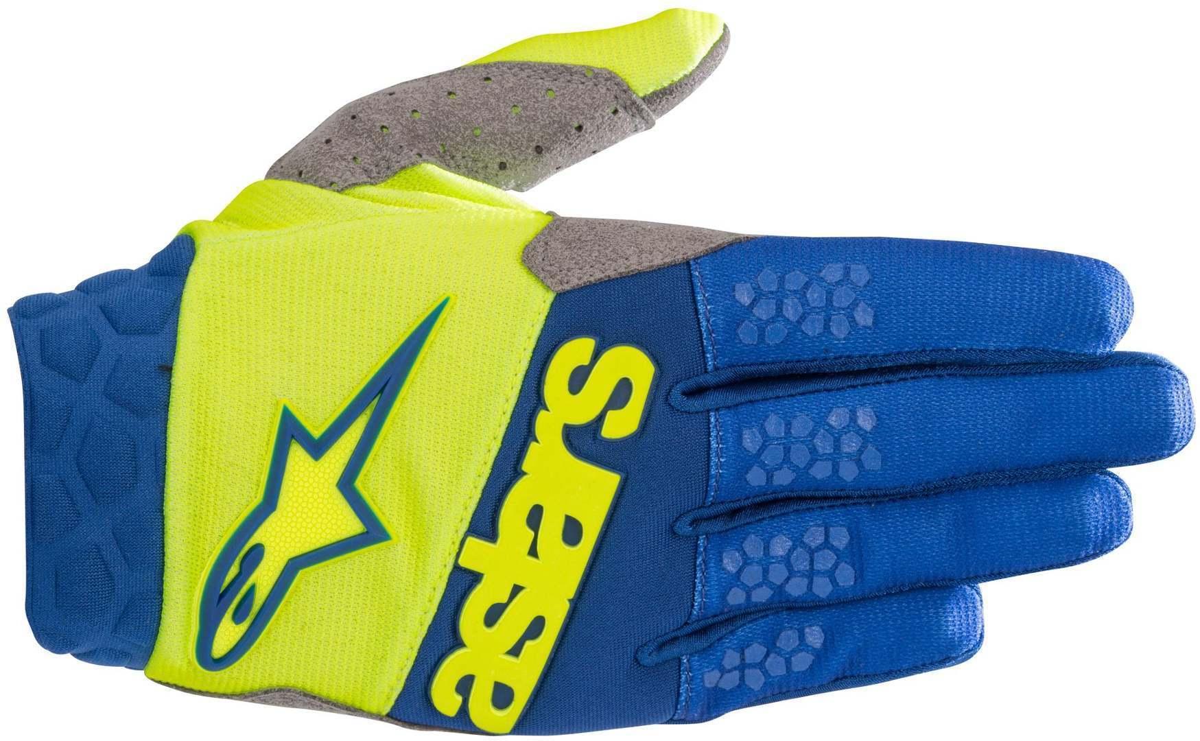 Alpinestars Racefend MX tekstil hansker M Blå Gul