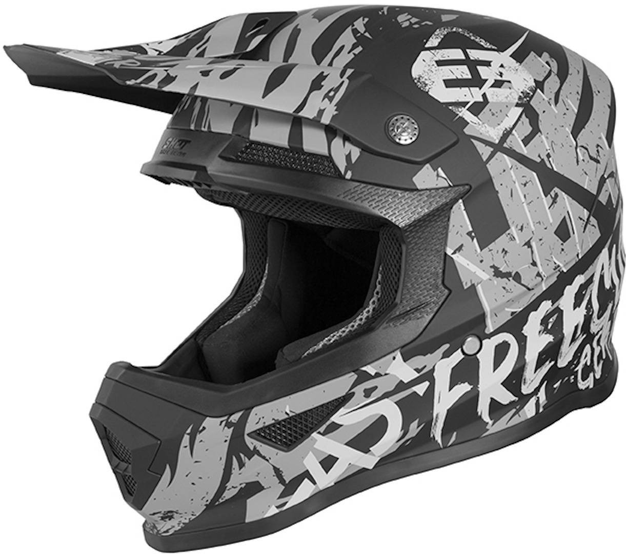 Freegun XP4 Maniac Barn motocross hjelm M Svart Grå