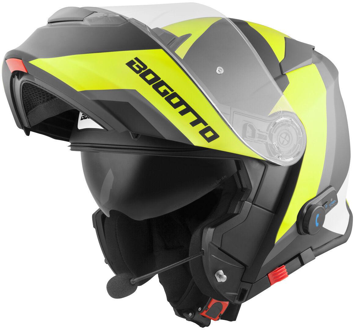 Bogotto V271 BT Zabu Bluetooth Hjelm S Svart Gul