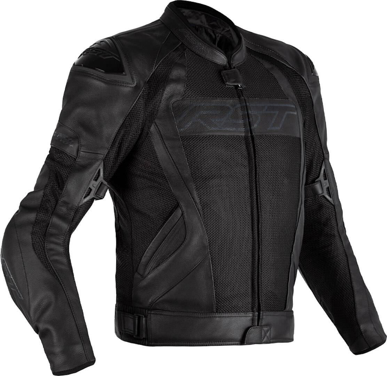 RST Tractech Evo 4 Mesh Motorcycle Leather Jacket Motorsykkel skinnjakke 2XL Svart