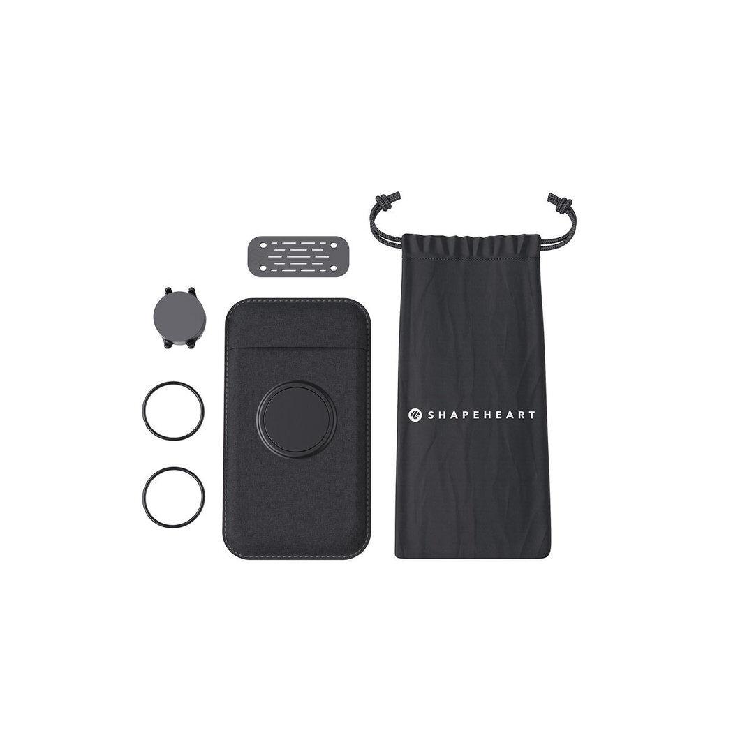 Shapeheart motorsykkel bunt magnetiske styret smarttelefonholder XL Svart