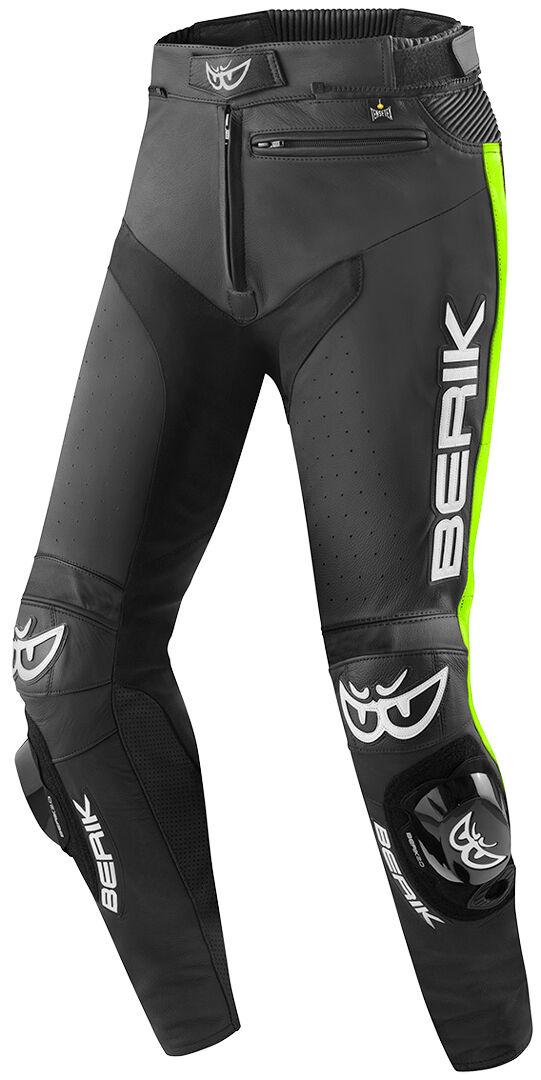 Berik Track Motorsykkel skinn bukser 60 Svart Gul