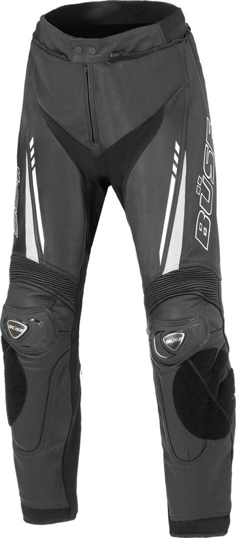 Büse Imola Motorsykkel skinn bukser L 33 34 Svart Hvit