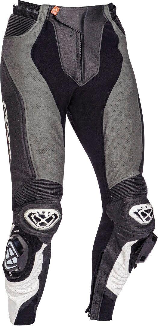 Ixon Vendetta Evo Motorsykkel skinn bukser 2XL Svart Grå Hvit