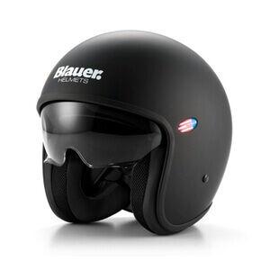 Blauer Motorsykkelhjelm Pilot, matte black, small MC-tilbehør