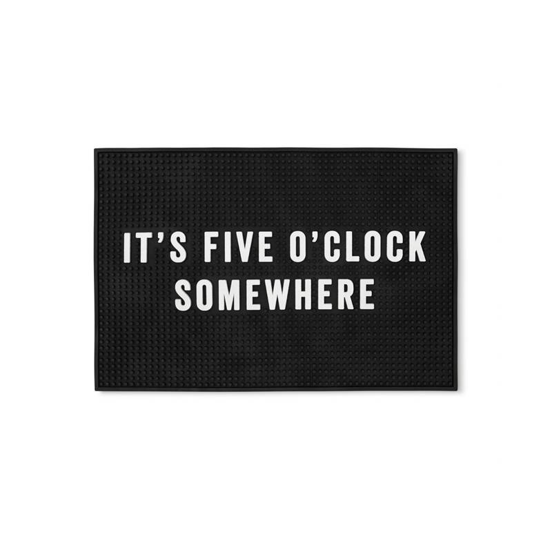 mens society Men's Society 'It's Five O'Clock Somewhere' Bar Mat