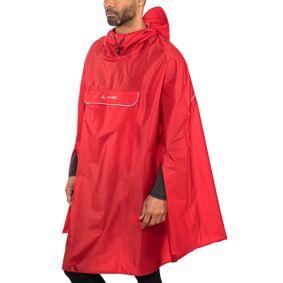 VAUDE Valdipino Poncho rød L 2021 Regnjakker