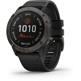 Garmin Fenix 6X Pro Solar Titanium DLC Multisport GPS Smartwatch Svart  2020 Pulsbånd & Pulsklokker