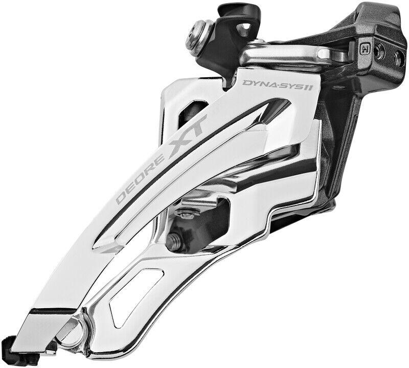 Shimano Deore XT FD-M8000 Frontgir 3x11 dyp klemme med adapter 66-69 ° 40 tenner 34,9mm 2021 Framgir til MTB