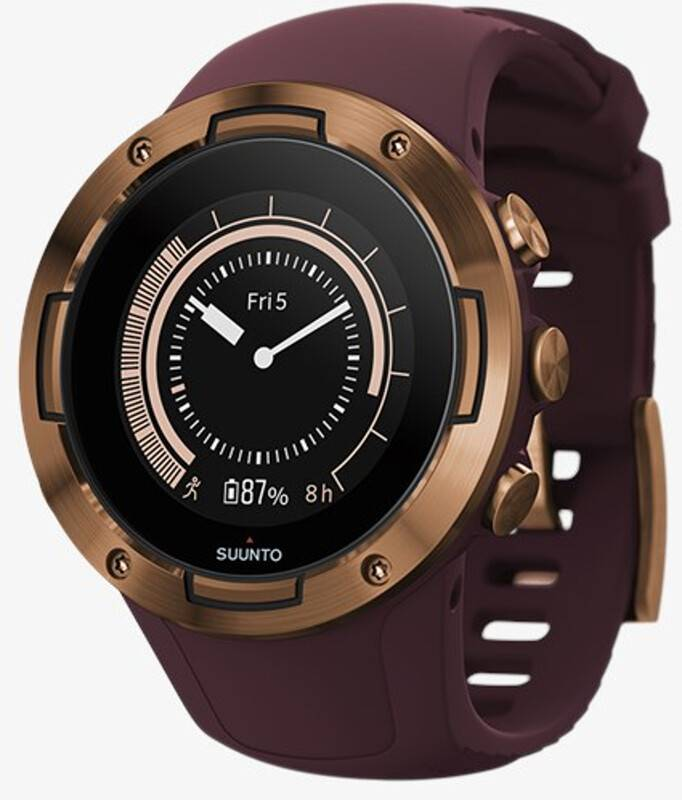 Suunto 5 GPS Sports Watch burgundy/copper  2019 Pulsbånd & Pulsklokker