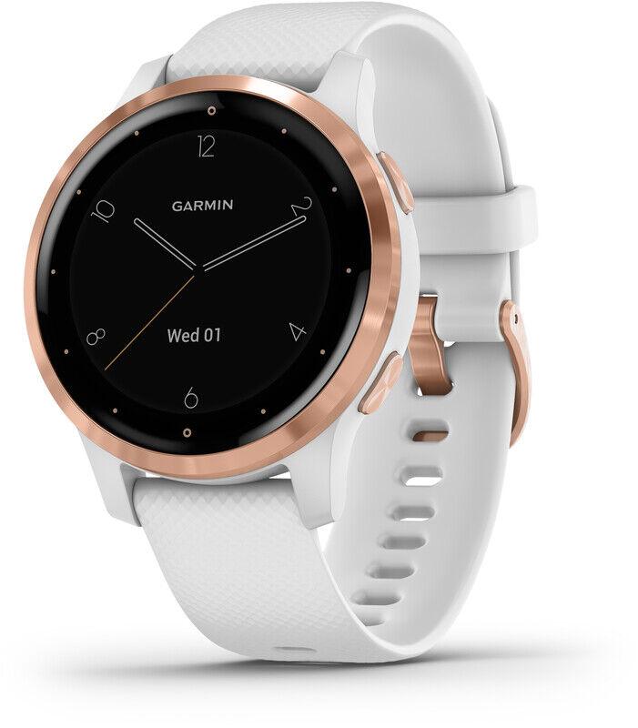 Garmin Vivoactive 4S Smartklokke white/rose gold  2020 Pulsbånd & Pulsklokker