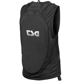 TSG Backbone Vest Kids svart JXXS   110/120 2021 Beskyttelsesutstyr til barn
