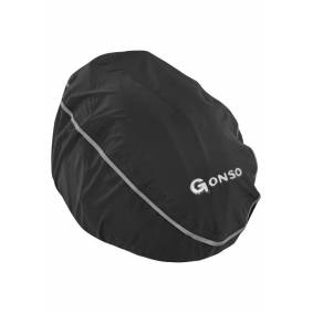 Gonso Regntrekk hjelm svart XL 2021 Hjelmtilbehør