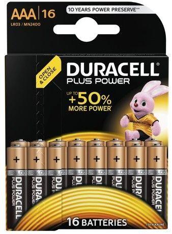 Duracell Plus Power AAA / L03 16-pakke