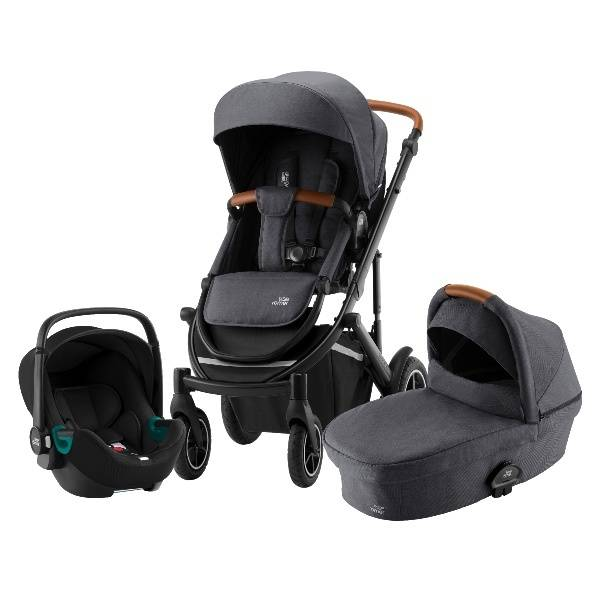 Britax Smile Iii Travelsystem 3i1, Barnevogn - Midnight Grey