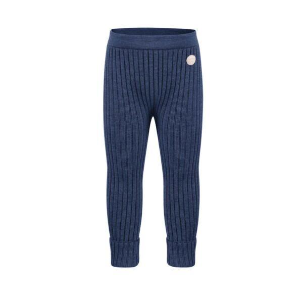 Lillelam - bukse basic ribb blå str 62