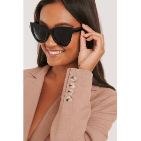 NA-KD Accessories Oversize Chunky Cateye Sunglasses - Black
