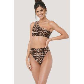 NA-KD Swimwear Maxi Highwaist Bikini Panty - Brown,Multicolor