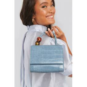 NA-KD Accessories Small Squared Top Handle Bag - Blue