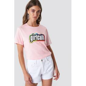 Galore x NA-KD Girl Cult Tee - Pink