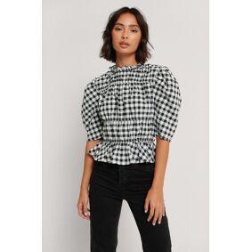 NA-KD Trend Rutete Bluse Med Rynker - Multicolor