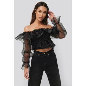 Trendyol Carmen Neck Organza Blouse - Black