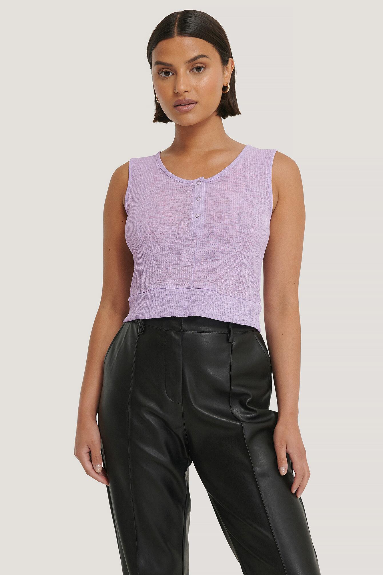 Trendyol Snap Knit Top - Purple