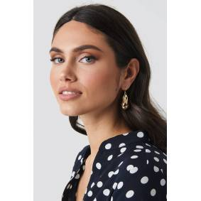 NA-KD Accessories Big Golden Pearl Earrings - Gold