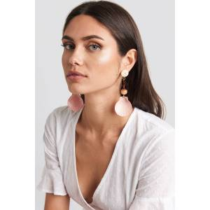 MANGO Iris Earrings - Pink,Orange