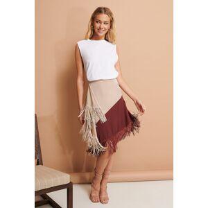 NA-KD Trend Fringe Detail Skirt - Multicolor