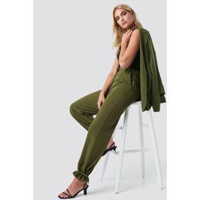 NA-KD Drawstring Detail Pants - Green