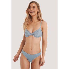 NA-KD Lingerie Blondetruse - Blue