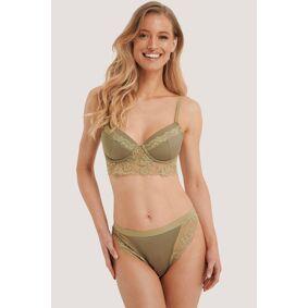 NA-KD Lingerie Blondetruse - Green