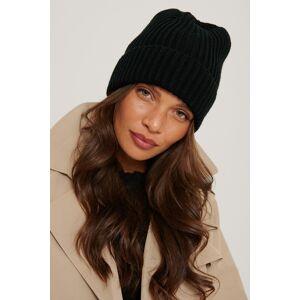 NA-KD Accessories Basic Knitted Beanie - Black