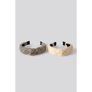 NA-KD Accessories Straw Hair Hoop Set - Beige