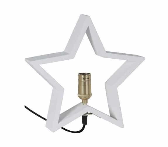 Star Trading Lysekil Bordstjerne 230V E14 Hvit
