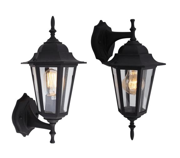 Scanlight AS Trysil Vegglampe E27/60W IP44 Sort